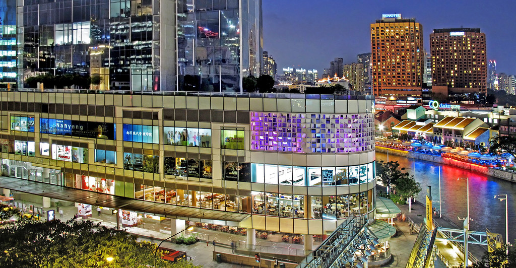 A View of Central & Clarke Quay from Car Park at River Walk Galleria...