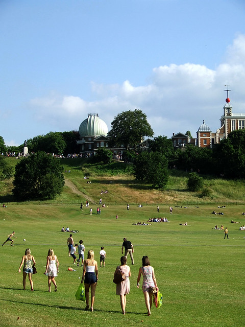 Greenwich Observatory on the summer solstice