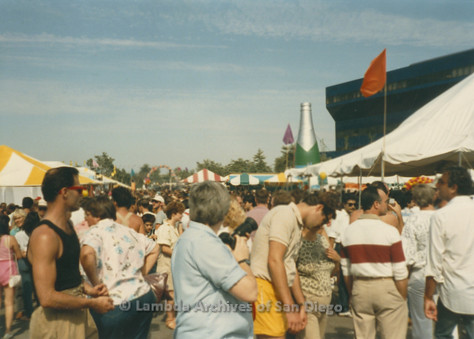 P018.003m.r.t San Diego Pride Festival 1985: Crowd at festival