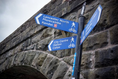 NCN route signs in Lancaster