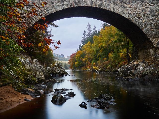 Autumn at Daltulich Bridge, Near Forres II