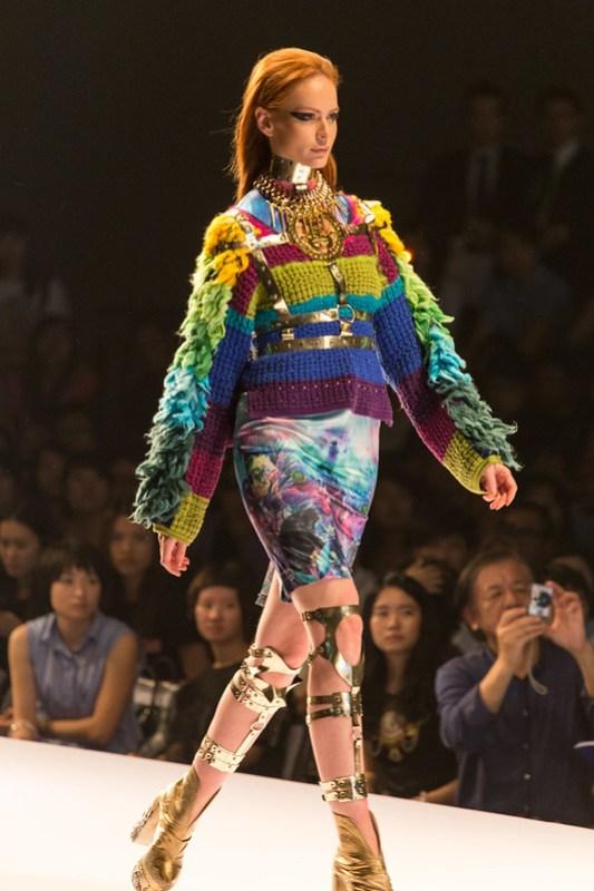 Vincent Lam (LAM Chong Yu): Tonatiuh: Look 1 / PolyU Fashion Show 2013 / SML.20130626.6D.16865