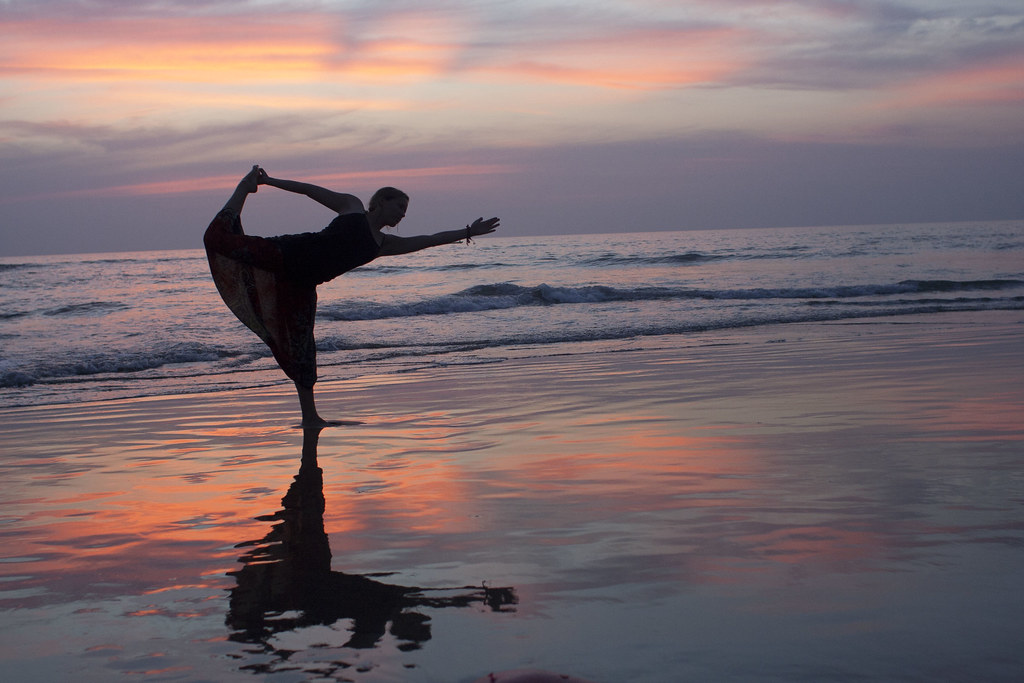 Dancer on the Sunset Beach