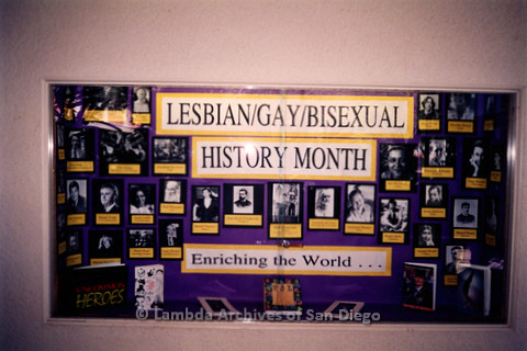 P122.028m.r.t Displays: Lesbian/Gay/Bisexual History Month display