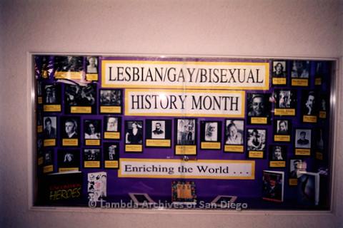 P122.028m.r.t Displays: Lesbian/Gay/Bisexual History Month display