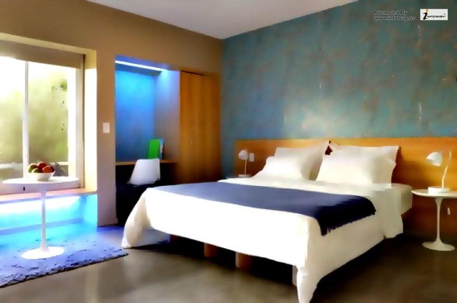Blue master bedroom design