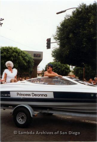 P018.086m.r.t San Diego Pride Parade 1991: Princess Deonna car
