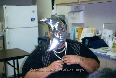P237.017m.r.t Center Events: Man wearing moon mask