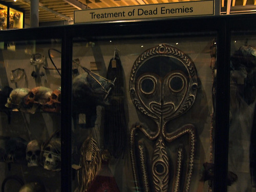 treatment of dead enemies display, Pitt Rivers Museum