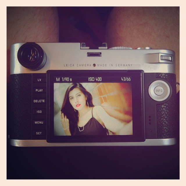 Testing new camera - Leica M Typ 240 + Noctilux. On location photoshoot with Mahi #leicam #leicam240 #leica #noctilux #backofcamera #model #photoshoot - Full details to follow on blog later - www.MrLeica.com