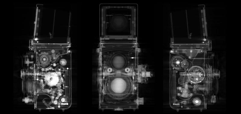 Tomografia de Câmeras Fotográficas - DXFoto - Rolleiflex 3.5 F naked