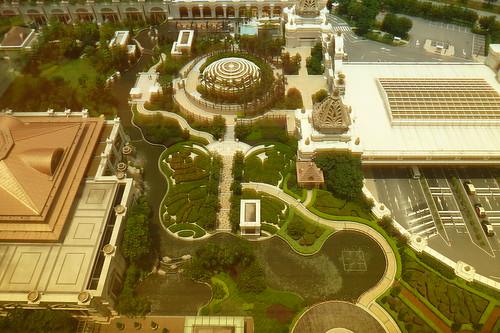 Butterfly Garden and dome of main lobby, Galaxy Macau