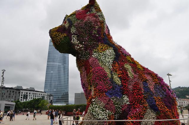 """Puppy"", 1992, Jeff Koons, Musée Guggenheim, Bilbao, Biscaye, Pays Basque, Espagne."