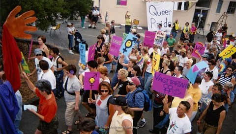 Dyke March at San Diego LGBTQ Pride Parade, 2001