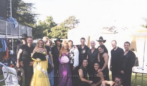Backstage at San Diego LGBTQ Pride Festival, 2000