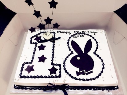 playboy birthday cake