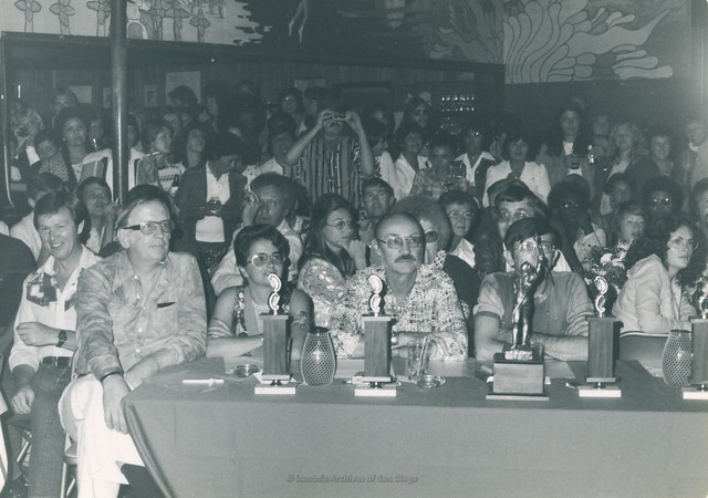 Arabian Knights Event, Contest Judges table at Diablo's Lesbian Dance Club in San Diego - 1976