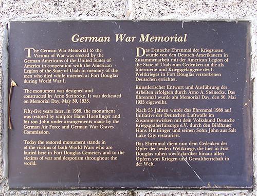 German POW Monument Plaque