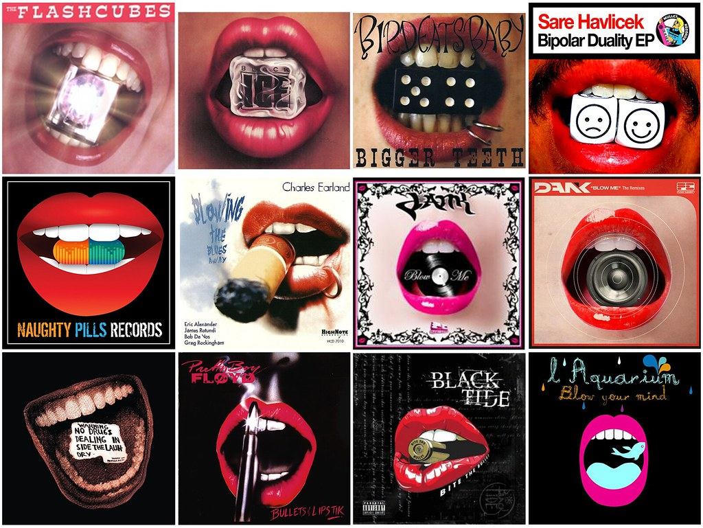 12 Album Covers With Objects Between Lips Found In The