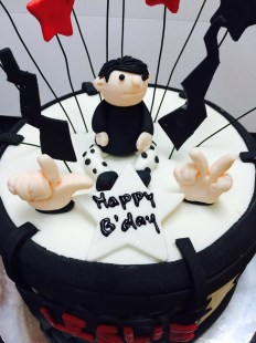 rock fondant birthday cake
