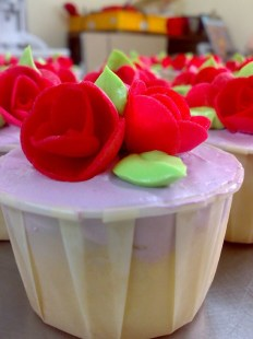 Butter Cream cupcake with roses
