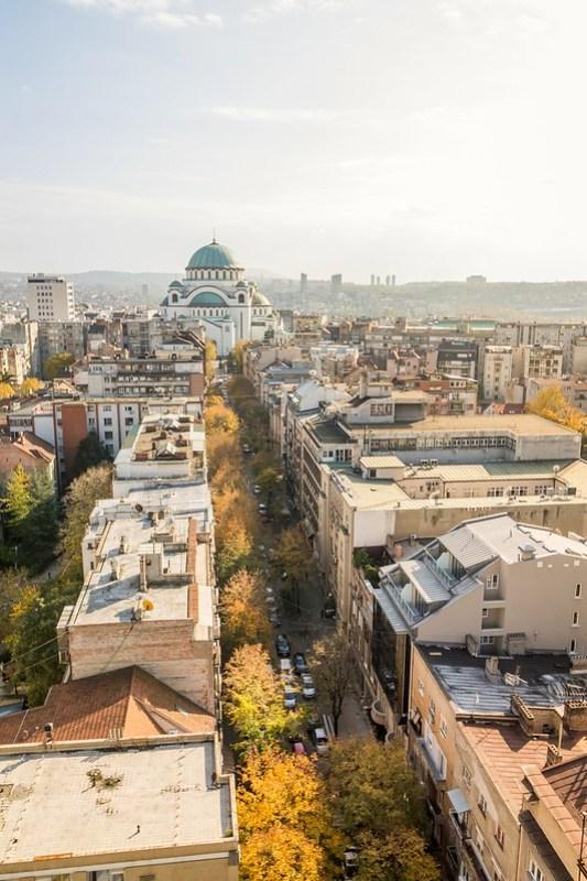 Autumn in the Saint Sava street