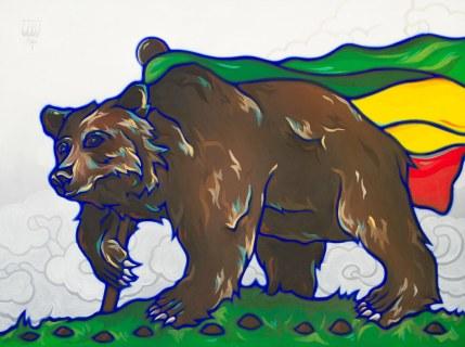 Califari Rasta Bear Flag