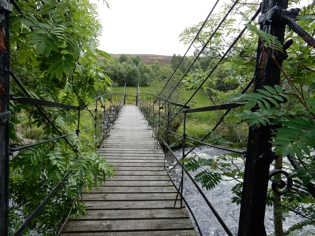 Foot bridge, River Isla
