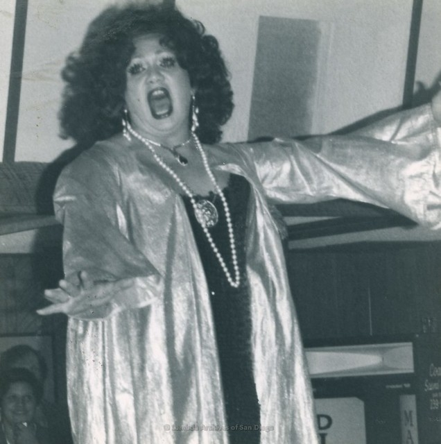 Drag Performance at Marshall Tuttle Benefit at A Different Drum in San Diego - 1976