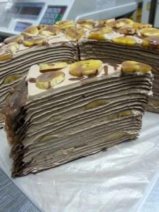 chocolate nutella banana millie crepe