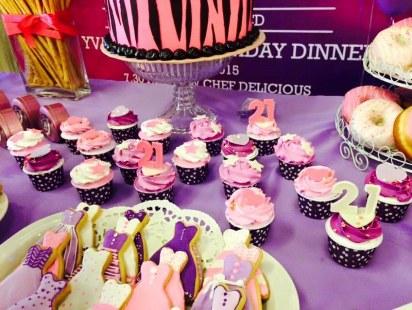 yvaine's 21st birthday cupcakes