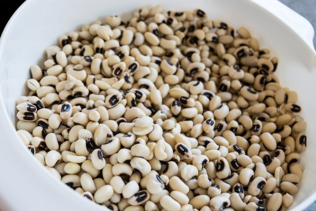 black eyed peas, soaked and ready to cook