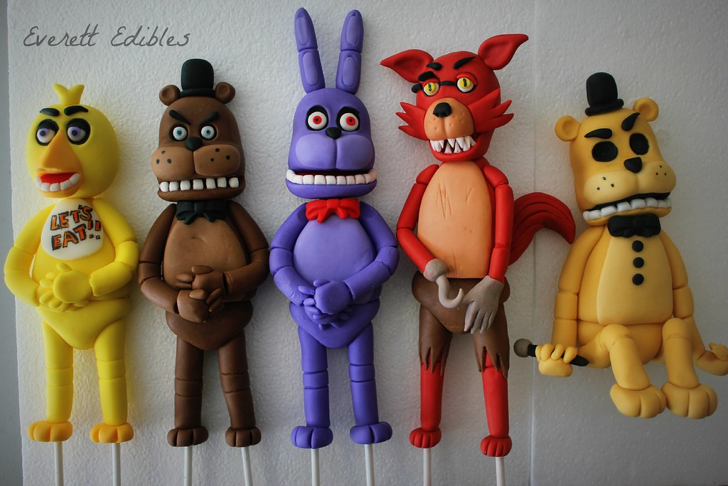 Five Nights At Freddy S Cake Toppers Decoration Created By Flickr