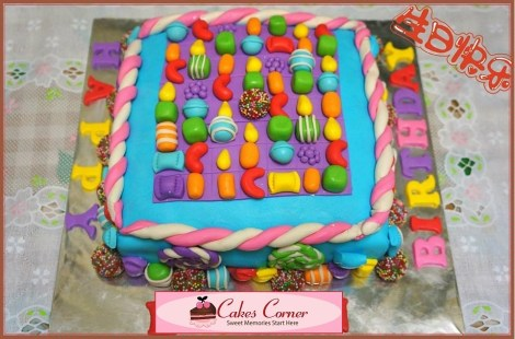 Candy Crush Saga Birthday Cake