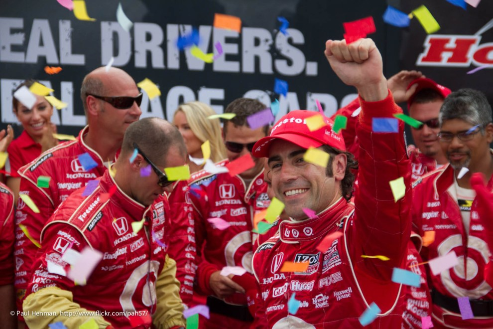 Dario Franchitti celebrates his third victory on the Streets of Toronto by Paul Henman