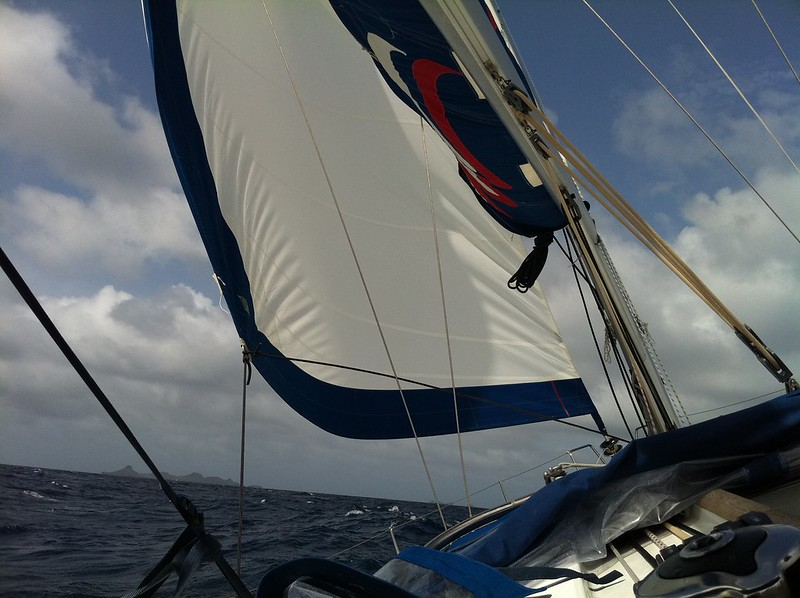 Underway from St. Maartin to St. Barts... 25kt winds.