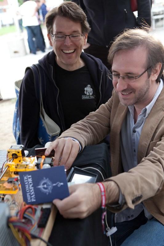 Maker Faire passport stamper