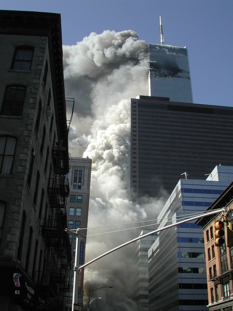 South Tower Collapse George Hackett Flickr