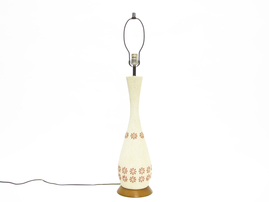 Mid Century Modern Ceramic Lamp By Quartite Creative Corp