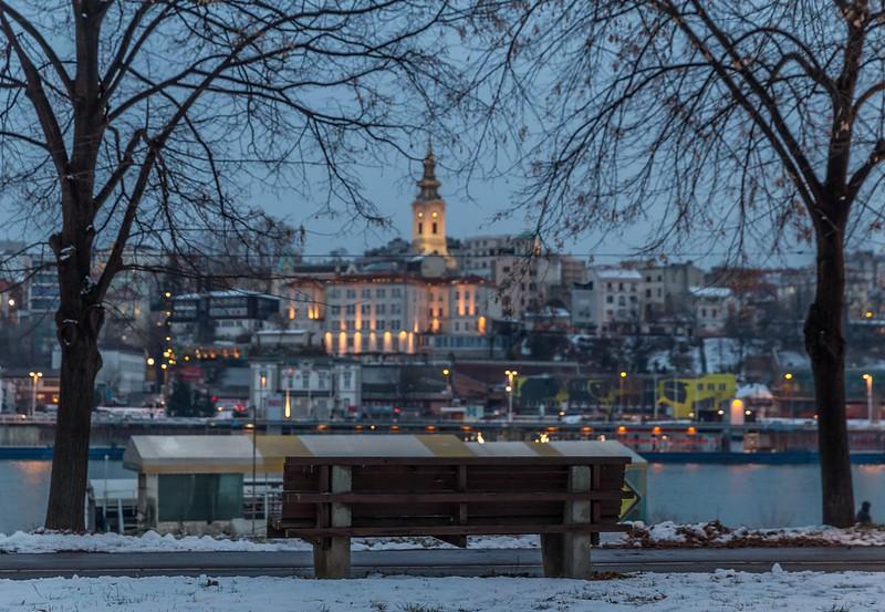 Peaceful winter evening