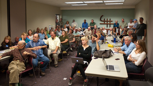 An Overflow Crowd at the Library