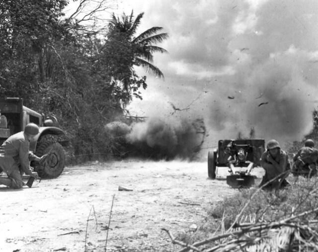 Exploding Japanese Pillbox, 1944