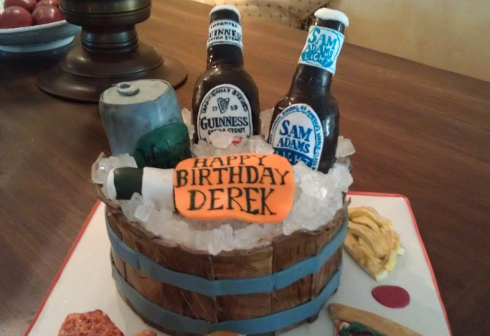 Beer Themed Birthday Cake 3 I Was Asked To Make A Surprise Flickr