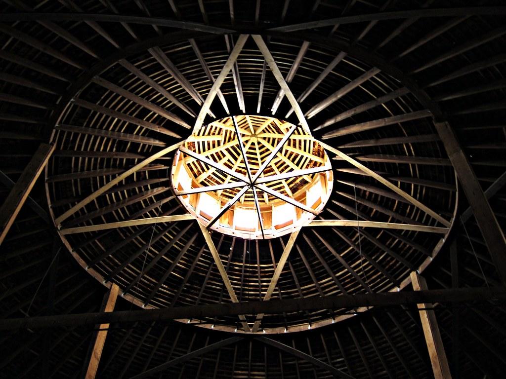 Inside the round barn