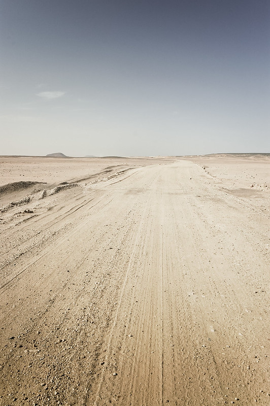 Roads in the Nubian desert