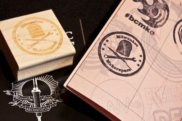 Milwaukee Makerspace Stamp