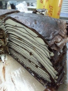 Chocolate nutella hazelnut crepe