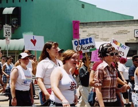 Dyke March at San Diego LGBTQ Pride Parade, 2002