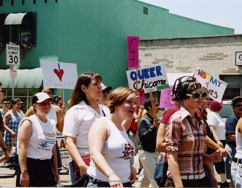 Dyke March at San Diego LGBTQ Pride Parade, 2002