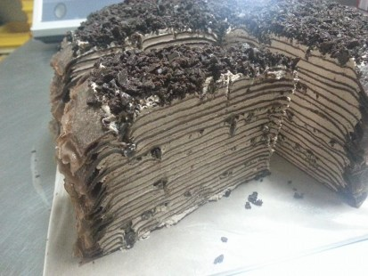 dark chocolate millie crepe